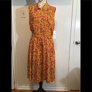 🔥NWT! 🔥 NANETTE LEPORE PINTUCK PLEAT DRESS